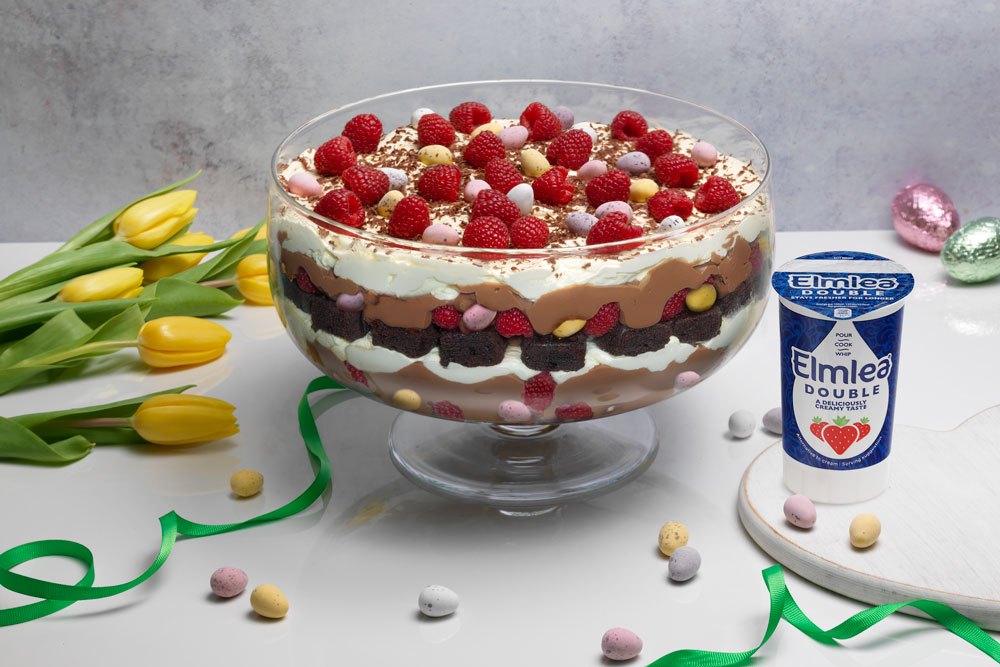 recipe image EASTER TRIFLE WITH CHOCOLATE BROWNIES