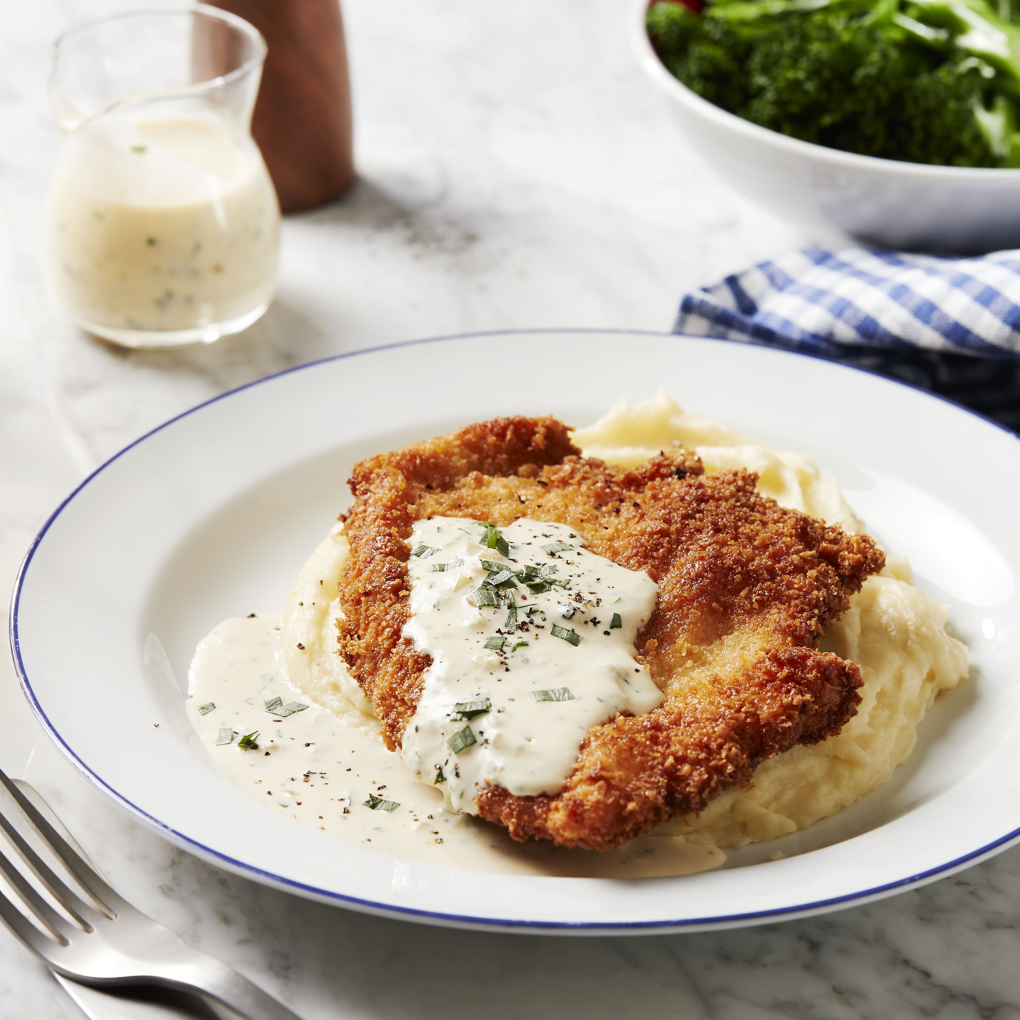 recipe image Chicken Schnitzel with Creamy Tarragon Sauce