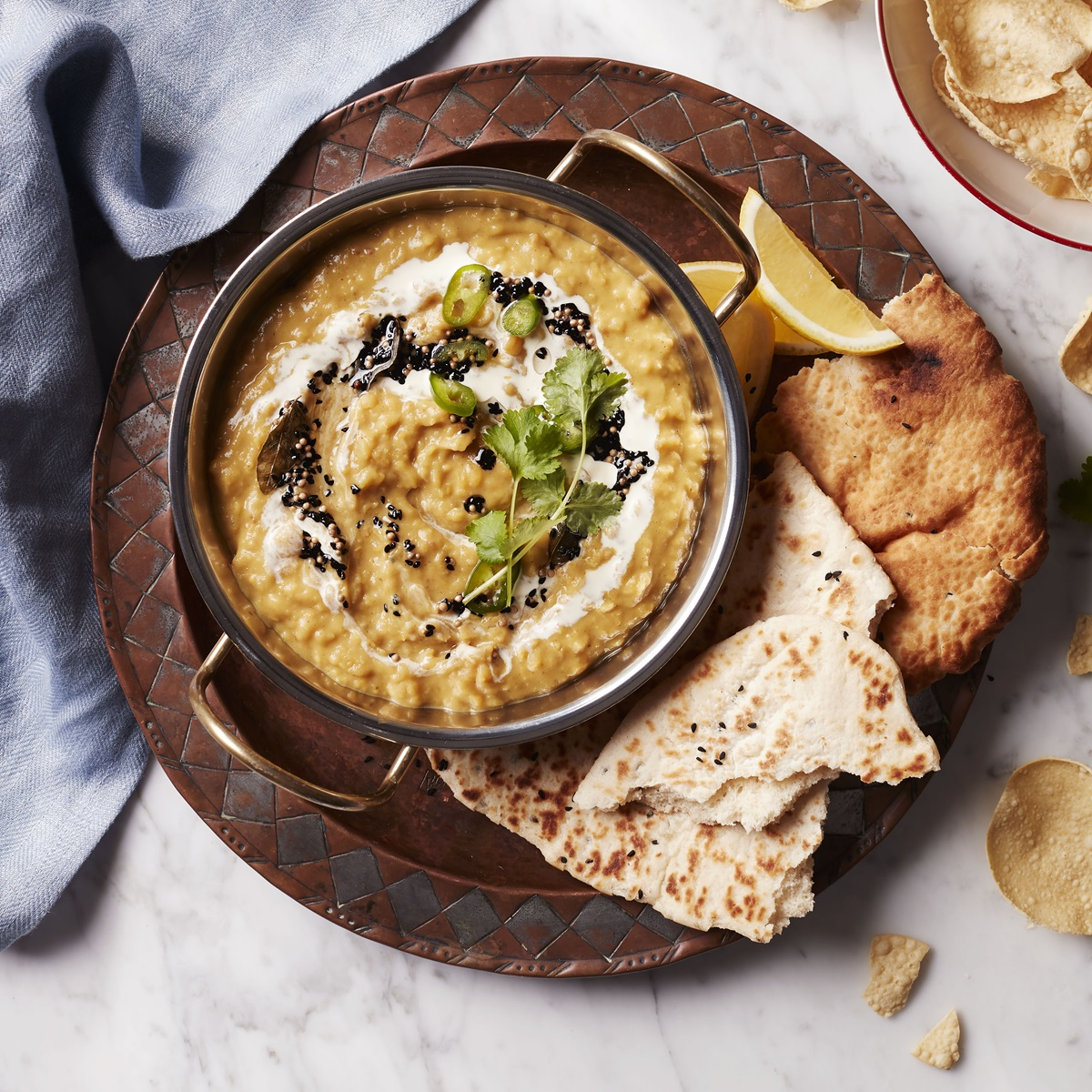 recipe image Creamy Yellow Split Pea and Ginger Dahl
